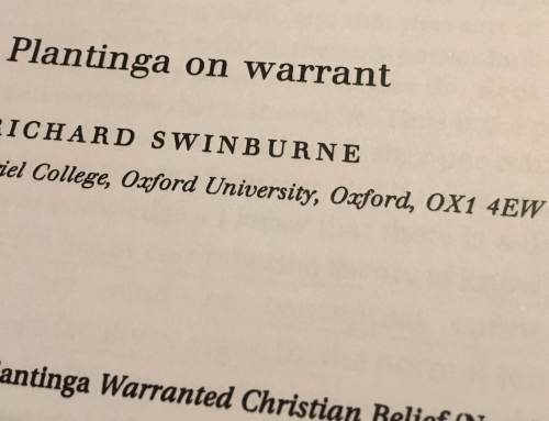 Synopsis of 'Plantinga on Warrant' by Richard Swinburne